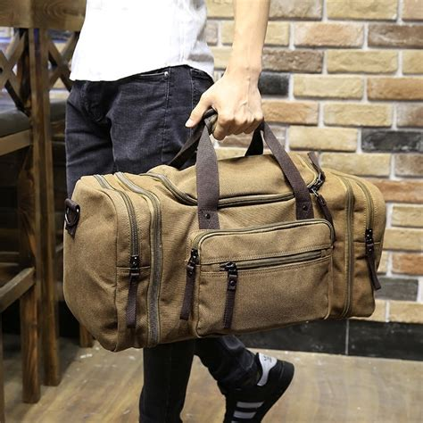 Vintage Canvas Men Travel Bags Women Luggage & Bags ...