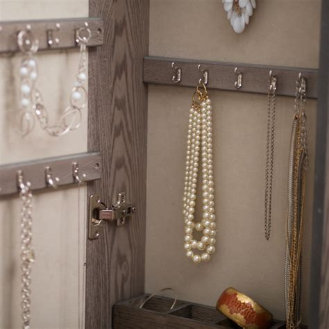 Wall Mount Jewelry Cabinet by Wall Mount Mirrored Jewelry Armoire Locking Cabinet