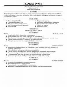 Best fast food server resume example livecareer for Fast resume