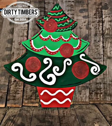 unfinished christmas tree wood cut outs buy