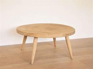 Table Basse Ronde But : table basse ronde ch ne vintage maison simone nantes ~ Teatrodelosmanantiales.com Idées de Décoration