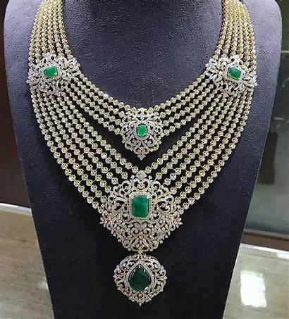 Diamond Sets Haram Jewelry Step Jewellery Emerald