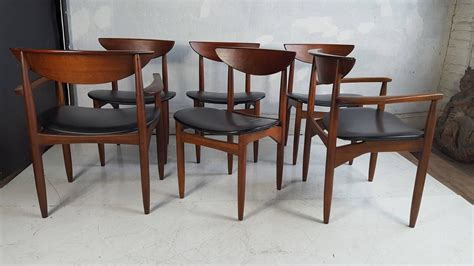 Set Of Six Modernist Dining Chairs Lane Perception At 1stdibs