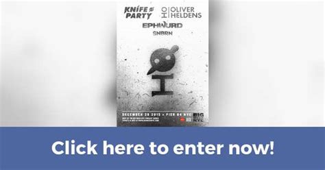 Oliver Heldens Boat Party Nyc by Win A Pair Of Tickets To See Knife Party Oliver Heldens