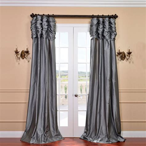 taffeta drapery panels half price drapes ruched platinum 108 x 50 inch faux silk