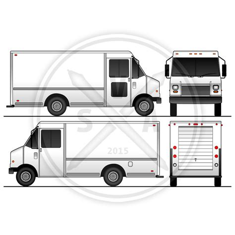 Truck Wrap Templates by P30 Grumman Blank Template Stock Vector