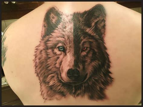 white wolf black wolf tattoo tattoos cherokee