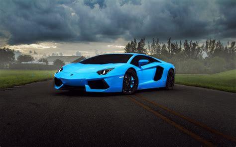 Blue Lamborghini Car Wallpaper