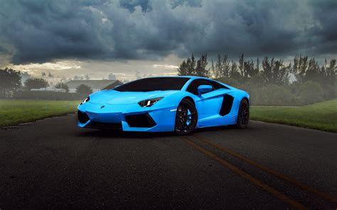 Blue Lamborghini Car Wallpaper  Download Hd Blue