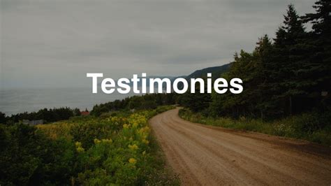 stories testimonies christ community church