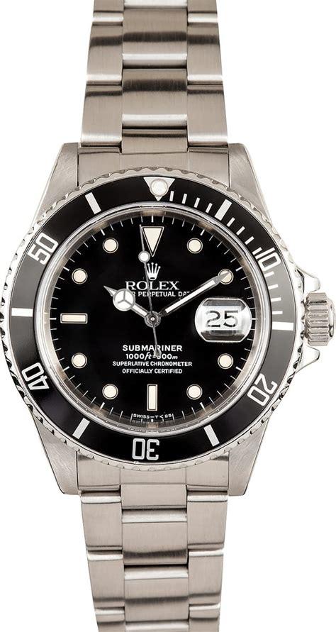 Rolex Submariner Black Dial Steel 16610BKSO - Best Prices