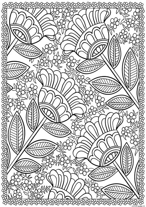 big flowers coloring pages printable