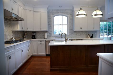 cherry and white kitchen cabinets white kitchen cherry island silver new jersey by 8191