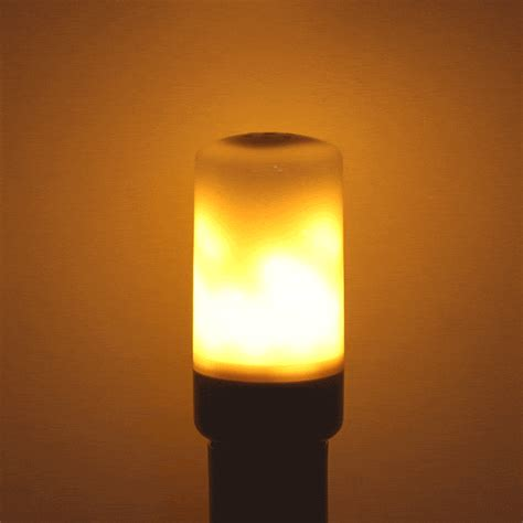 e27 e26 smd led flame effect fire light bulbs flickering
