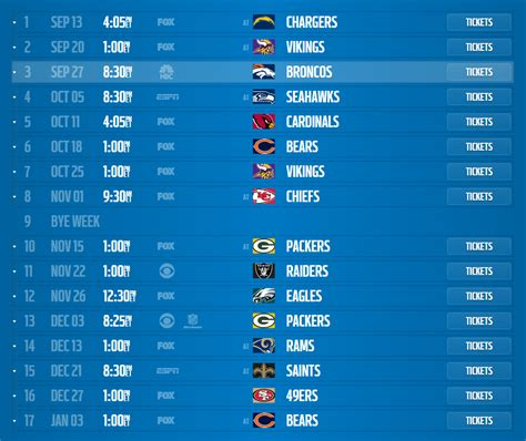 detroit lions full  nfl schedule released