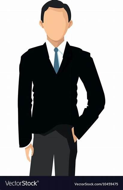 Icon Faceless Businessman Vector Royalty Vectors