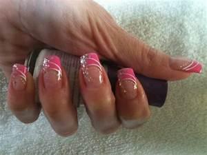 Ongles En Gel Rose : french rose d co paillet et acrylique blanche creation ongle 100 gel ~ Melissatoandfro.com Idées de Décoration