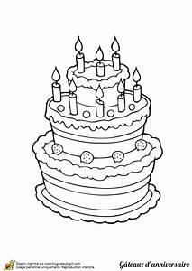 Dessin Gateau Anniversaire : dessin colorier g teau d anniversaire trois tages ~ Melissatoandfro.com Idées de Décoration