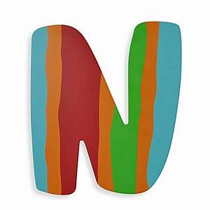 Buy bright colored wooden letter quotnquot from bed bath beyond for Colored wooden letters