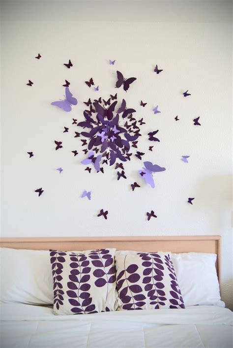 sticker mural chambre 25 best ideas about butterfly wall decor on