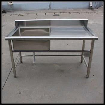 kitchen sink table manufacturer one sink inox table stainless steel kitchen 2931