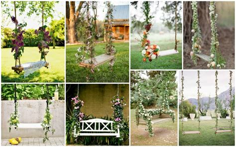 flower swing decorations    romantic garden party