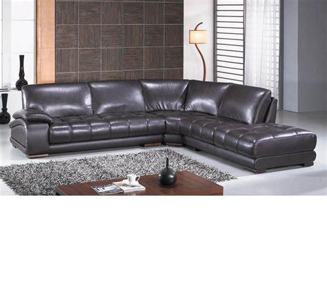 espresso leather sectional sofa dreamfurniture com richmond modern espresso leather