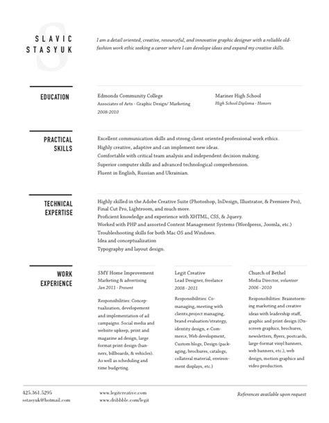 different resume format interesting header resume template