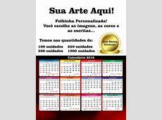 Calendário Folhinha De Parede 2018 500 Unid Personalizado