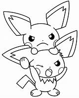 Pichu Coloring Pages Electric Fan Pokemon Sheets Eevee Printable Getcolorings Together Getdrawings Every sketch template