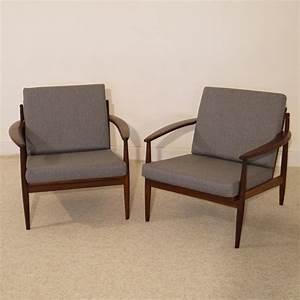 Fauteuil Vintage Scandinave : fauteuils design scandinave vintage teck gris grete jalk ~ Dode.kayakingforconservation.com Idées de Décoration