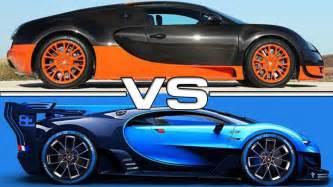 mercedes amg sport bugatti veyron vs bugatti vision gran turismo