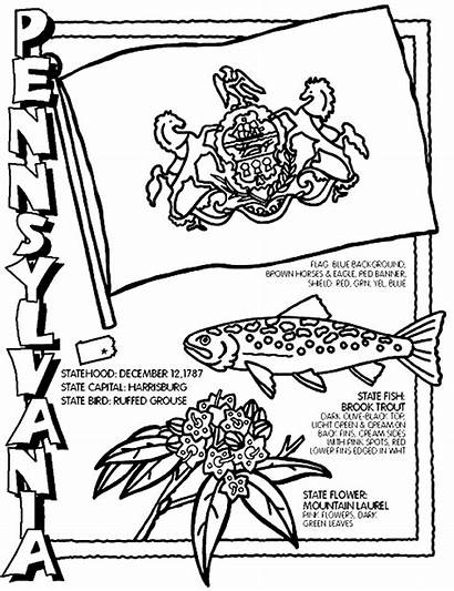 Pennsylvania Coloring Pages Crayola States State Flag