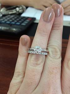 Solitaire Engagement Ring Bees Show Me Your Wedding Bands