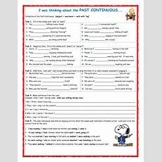 Past Continuous Interactive Worksheet