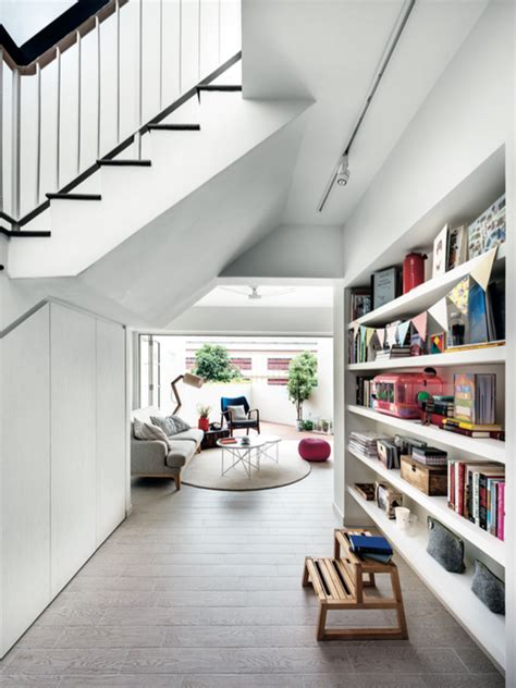feature wall design   style full height shelving