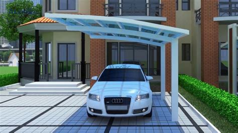 Cantilever Car Ports by Modern Strong Duty Aluminum Cantilever Carport