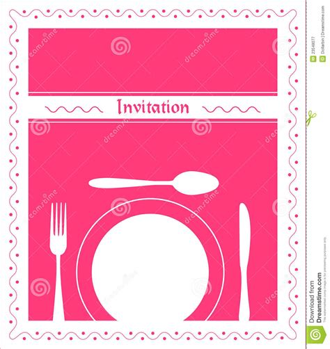 dinner invitation royalty  stock photography image