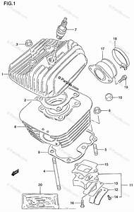 Suzuki Motorcycle 1997 Oem Parts Diagram For Cylinder
