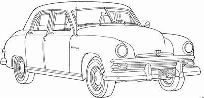 Coloring Vorne Cars Automobil Classic Colouring Antique