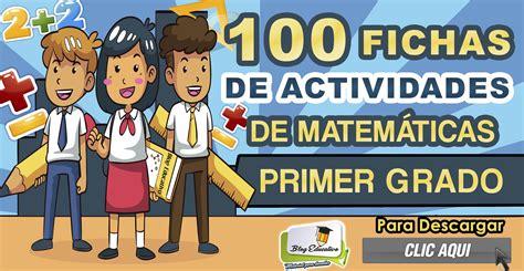 foto de 100 fichas de actividades de matemática para primer grado