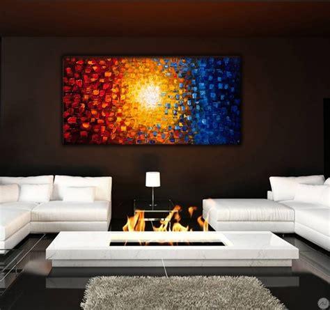 soleil de couleur tableau peinture artwall