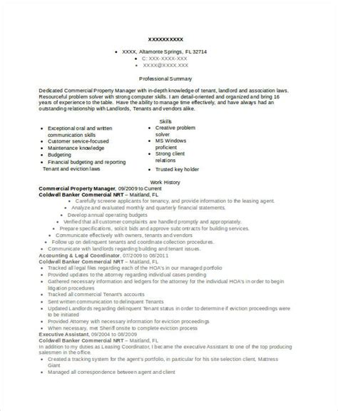 property manager resume 9 free word pdf documents