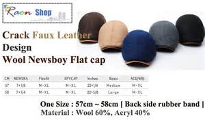 new design style wool newsboy cap gatsby flat golf hat faux leather ebay