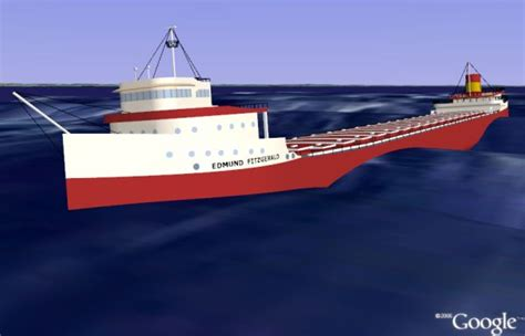 edmund fitzgerald sinking location edmund fitzgerald shipwreck