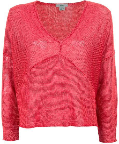 tucked in sweater helmut lang tucked linen sweater in lyst