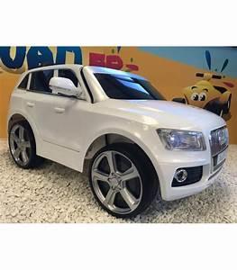 Audi Q5 Blanc : audi q5 blanc 12 volts avec t l commande parentale et roues gomme ~ Gottalentnigeria.com Avis de Voitures