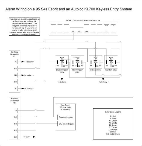 keyless entry system wiring diagram likewise door power
