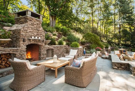 24+ Outdoor Fireplace Designs, Ideas