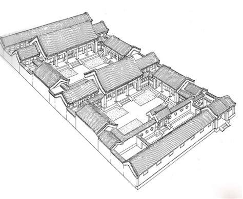 courtyard house plan 老北京四合院 传统民居 自在建房